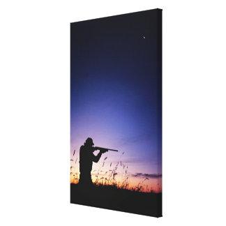 Hunter Silhouette Canvas Print