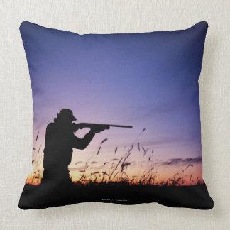 Hunter Silhouette Pillow