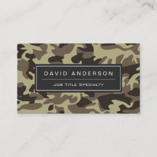 Camouflage business cards templates zazzle hunter stylish military camouflage camo pattern business card colourmoves