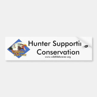 Hunter Supporting Conservation. Bumper Sticker