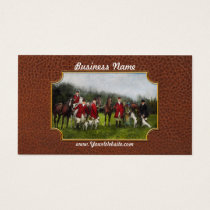 Hunter - The fox hunt - Tally-ho 1924 Business Card