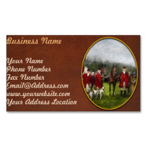 Hunter - The fox hunt - Tally-ho 1924 Magnetic Business Card