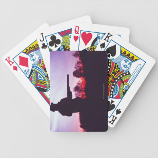 Hunter with Gun Bicycle Playing Cards