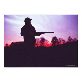 Hunter with Gun Invitation