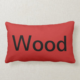 Hunter Wood couch pillow