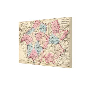 Hunterdon, Somerset Lechuga romana, NJ Impresión En Lona Estirada