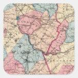 Hunterdon, Somerset Lechuga romana, NJ Calcomanías Cuadradass Personalizadas