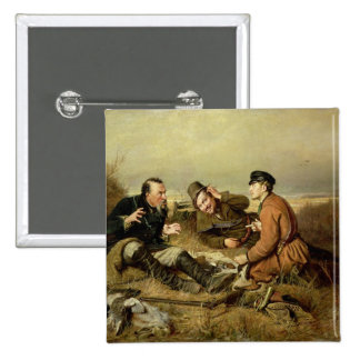 Hunters, 1816 2 inch square button