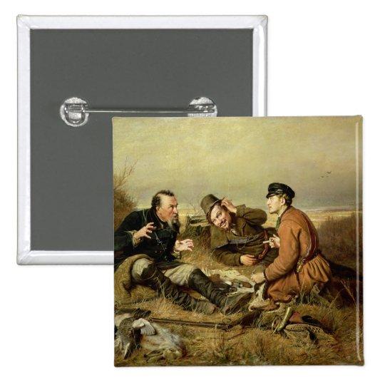 Hunters, 1816 pinback button