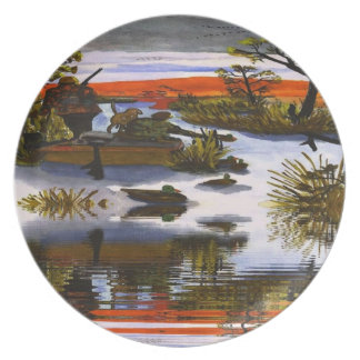 Hunters Await Collectors Plate