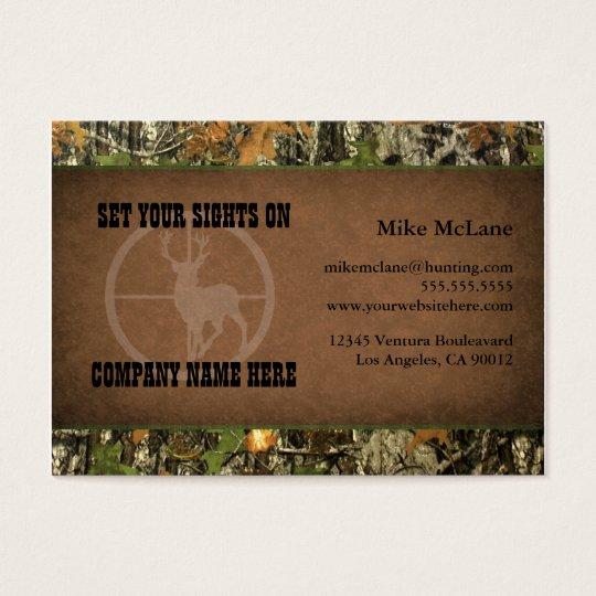 Hunters camo business cards zazzle hunters camo business cards colourmoves