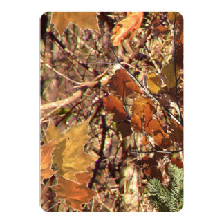 Hunter's Camo Camouflage Painting Customize This! 5x7 Paper Invitation Card