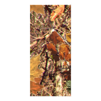 Hunter's Camo Camouflage Painting Customize This! Rack Card