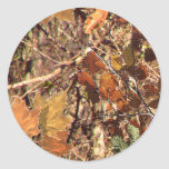 Hunter's Camo Camouflage Painting Customize This! Round Stickers