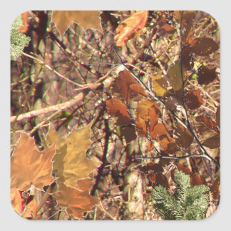 Hunter's Camo Camouflage Painting Customize This! Square Sticker