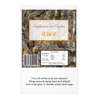 Hunter's Camo Chic Wedding Candy Wrapper