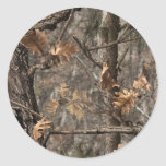 Hunter's Camo Chic Wedding Envelope Seal Classic Round Sticker