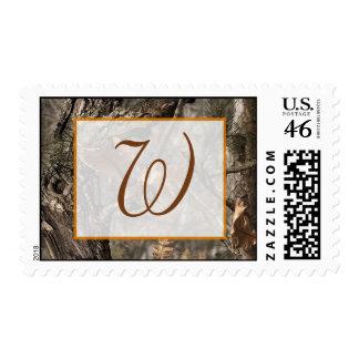 Hunter's Camo Chic Wedding Postage Stamps