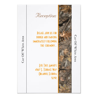 Hunter's Camo Chic Wedding Reception Card