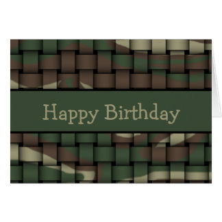 Hunter's Camouflage Greeting Card