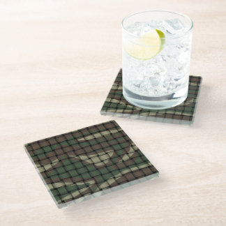 Hunter's Camouflage Glass Coaster