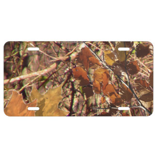 Hunter's Camouflage Painting Decor License Plate