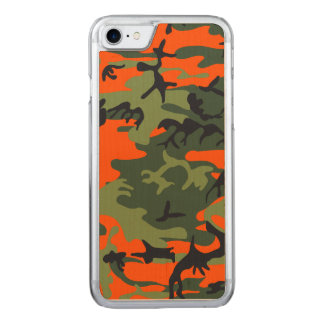 Hunters Camouflage Pattern Carved iPhone 7 Case