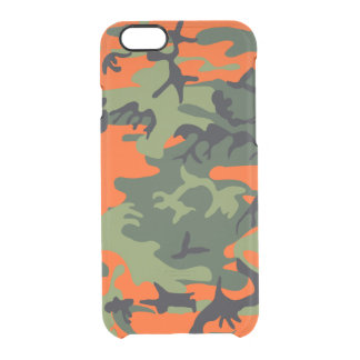 Hunters Camouflage Pattern Clear iPhone 6/6S Case
