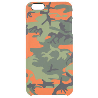 Hunters Camouflage Pattern Clear iPhone 6 Plus Case