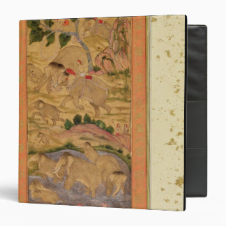Hunters Capturing Elephants, from the Large Clive 3 Ring Binders