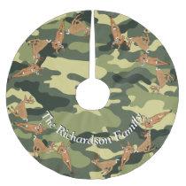 Hunters Deer and Camo YOUR NAME Tree Skirt