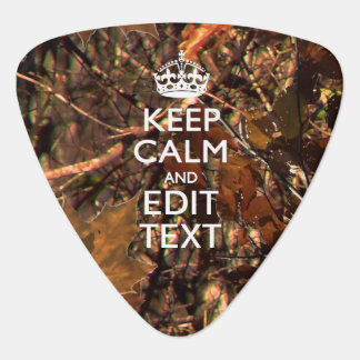 Hunters Fall Camouflage Keep Calm Your Text Guitar Pick