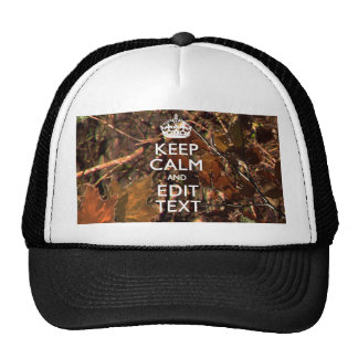 Hunters Fall Camouflage Keep Calm Your Text Trucker Hat
