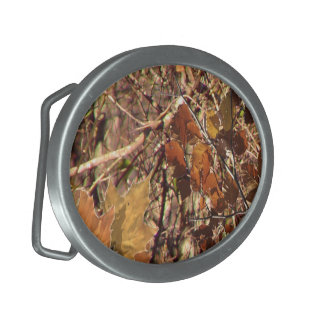 Hunter's Fall Nature Camo Camouflage Painting Belt Buckles