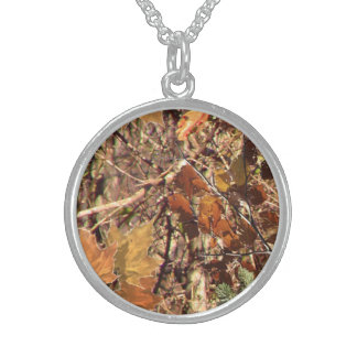 Hunter's Fall Nature Camo Camouflage Painting Personalized Necklace