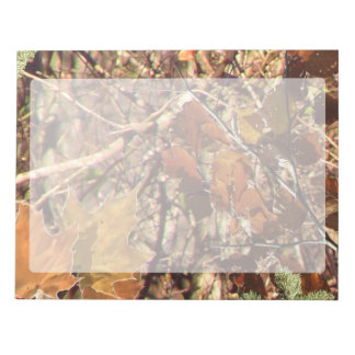 Hunter's Fall Nature Camo Camouflage Painting Memo Pads