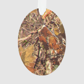 Hunter's Fall Nature Camo Camouflage Painting Ornament
