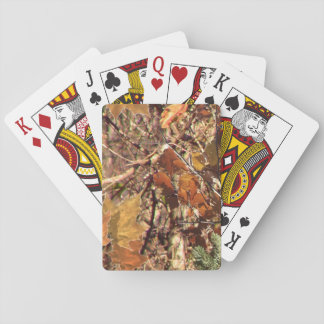 Hunter's Fall Nature Camo Camouflage Painting Playing Cards