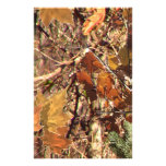 Hunter's Fall Nature Camo Camouflage Painting Stationery