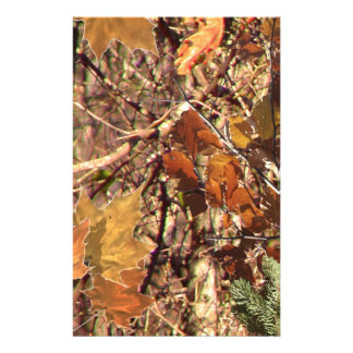 Hunter's Fall Nature Camo Camouflage Painting Customized Stationery