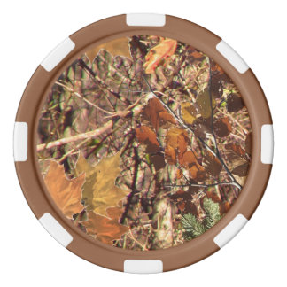 Hunter's Fall Nature Camouflage Painting Decor Poker Chip Set