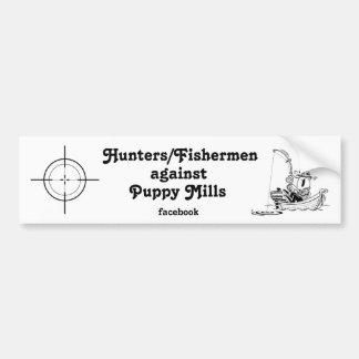 Hunters/Fishermen Against Puppy Mills facebook #3 Car Bumper Sticker