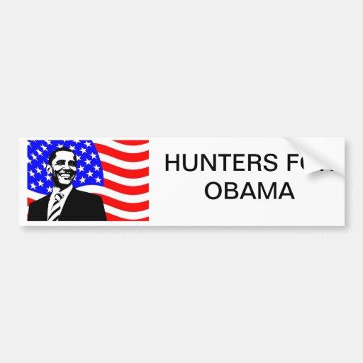 HUNTERS FOR OBAMA CAR BUMPER STICKER