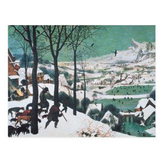 Hunters in the Snow by Bruegel Postcard