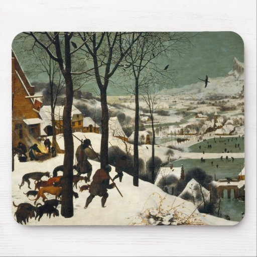 Hunters in the Snow by Pieter Bruegel the Elder Mousepad