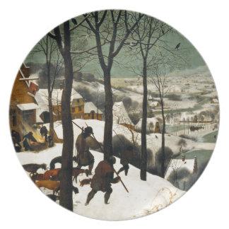 Hunters in the Snow by Pieter Bruegel the Elder Plate