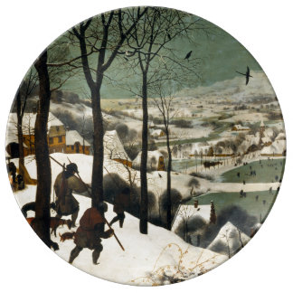 Hunters in the Snow by Pieter Bruegel the Elder Porcelain Plate