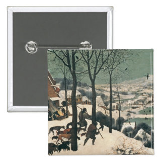 Hunters in the Snow - January, 1565 2 Inch Square Button