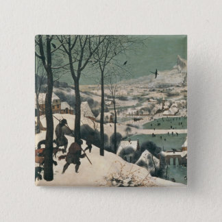 Hunters in the Snow - january, 1565 Button
