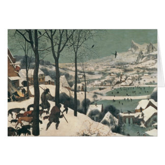 Hunters in the Snow - january, 1565 Greeting Card